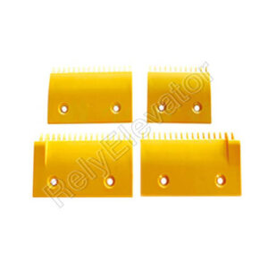 2L08319,Sigma Comb Plate,109 X 89mm,12T,ABS,Yellow,Center,Small
