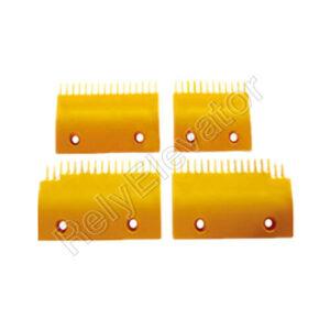 ASA00B654-L,Sigma Comb Plate,158 X 94.4 X 90mm,17T,ABS,Yellow,Left