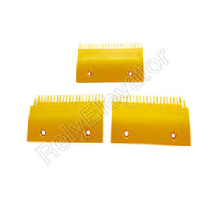 DSA2001488B-R,Sigma Comb Plate,202.6 X 94.4mm,22T,ABS,Yellow,Right