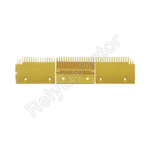 DSA200169B,Sigma Comb Plate,126 X 91.6 X 6mm,Tooth Pitch 8.4,Hole Spacing 90,15T,Yellow,Center