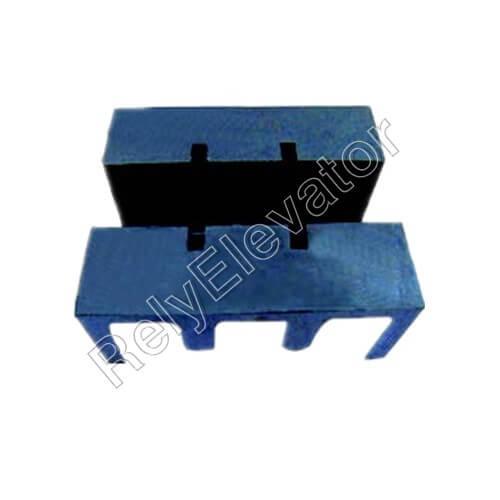 ThyssenKrupp Guide Shoe Rubber Cushion,118 X 92 X 47mm